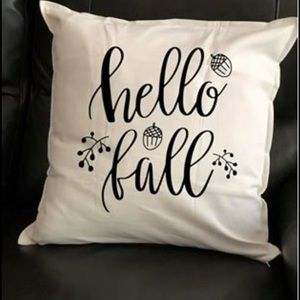 Other - Hello fall pillow cover